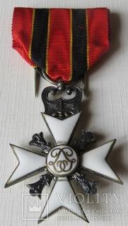 Крест ''  25- летия коронации Леопольда I, ''учреждён  20.6.1856,Бельгия