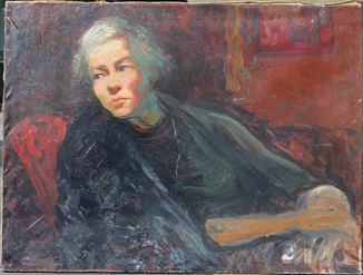 Михаил Кикоин (1892 Беларусь - 1968 Париж) масло