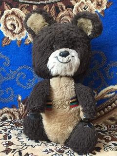 Олимпийские мишка большой 55 см СССР