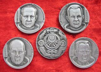 """Набор настольных медалей """"Союз-Аполлон"""" 1975"""