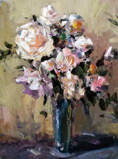 """""""Троянди""""116×98см, полотно, олія. Автор Шаповал Ю.О."""