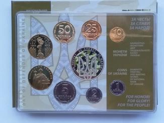 Набор обиходных монет Украины 2015 года.