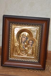Казанская Икона Божьей Матери ( золочение)
