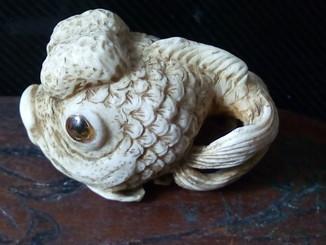 Нецке - набор из 3 шт. (Рыбка, Осьминог, Зайчик) в коробке из красного дерева