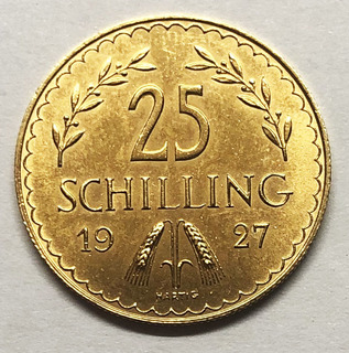 25 шиллингов 1927 года. Австрия. UNC.