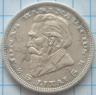 5 лит, Литва, 1936г.