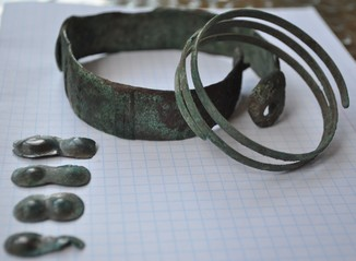 Чернолесская культура (два браслеты и нашивки)