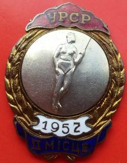 Первенство УССР -женское семиборье -2-е место -1952 год