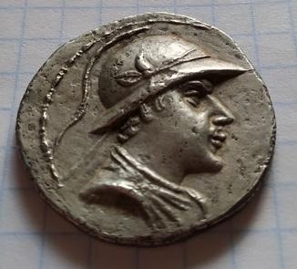 Тетрадрахма,Бактрия,Эвкратид (171-135 до н.э.)
