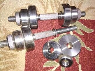 Гантели 2 по 14 кг разборные (металл). Сделано мастером под заказ