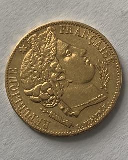 20 франків Франція 1849 рік