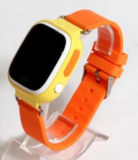Детские умные смарт часы с GPS Smart Baby Watch Q90-PLUS. Оранжевые