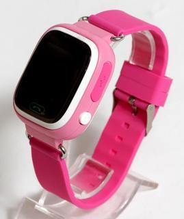 Детские умные смарт часы с GPS Smart Baby Watch Q90-PLUS. Розовые