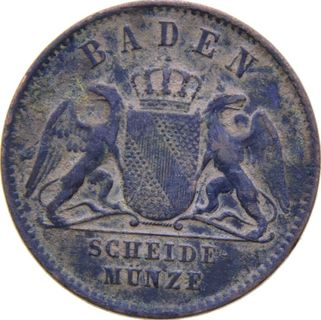 Баден 1 крейцер 1859 года