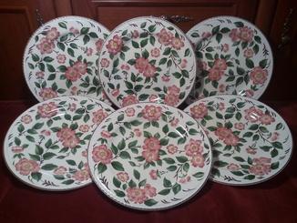 Великі тарілки 6шт Ірландська роза Англія Irish Rose Wood & Sons