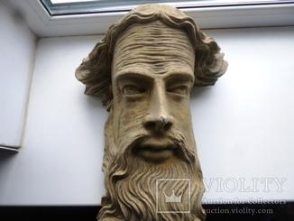 Полихромная скульптура. Голова ( частина Амвона )