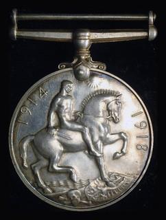 Великобритания медаль 1914-1918 Unc серебро