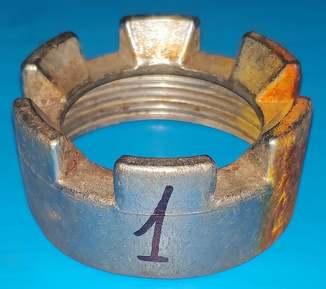 Гайка молокопровода нержавейка СССР лот №1 вес.0,180 кг.