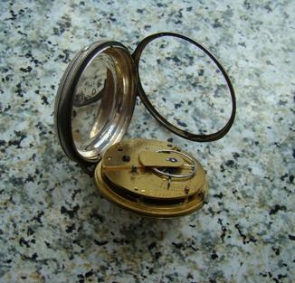 Английские карманные часы Vilson London XIX век серебро