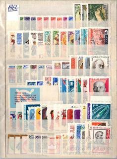 СССР полные годовые наборы марок и блоков 1961-1970, MNH