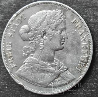 Двойной Талер  1861 г , Франкфурт, серебро