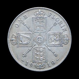 1 Флорин 1916, Великобритания