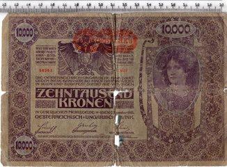 10000 крон 1918 год. Австрия.