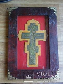 Крест киотный: Распятие Христово .