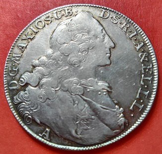1 талер Патрона герцогства Бавария 1765 -го года