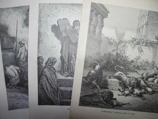 Гюстав Доре, три гравюры. 1885 год. Оригинал. Швеция.