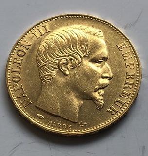 20 франков 1857 год Франция золото 6,45 грамм 900'
