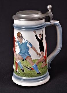 Кружка пивная коллекционная Футбол Бокал Gerz W.Germany