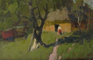 Заслуженный художник Украины А.А. Сербутовский