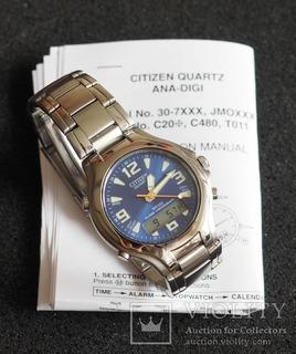 Кварцевые часы Citizen C201 Ana Digi Japan Mov't