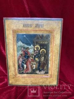 Икона рождество Христова 18век