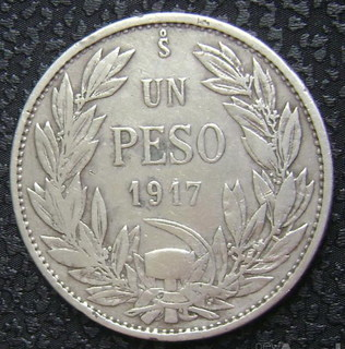 Чили 1 песо 1917