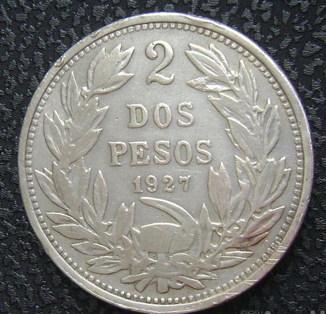 Чили 2 песо 1927