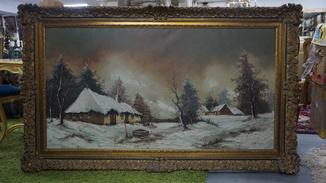 Зима в деревне.