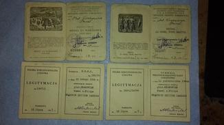Документи на 4 медалі Польщі (лот 15)
