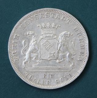 1 талер 1871(Бремен)