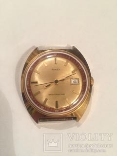 Позолоченные Часы Timex (мод 26760 2573) водонепроницаемые. Механика 1960-70г.