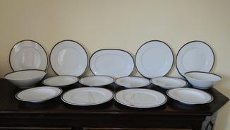 Сервиз. Блюдо огромные тарелки блюда салатники фарфор кобальт Германия