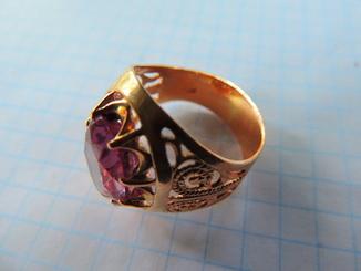Перстень СССР с камнем 583
