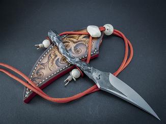 Ножик, кованый.  Шейник.