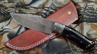 Нож охотничий из дамасской стали №1