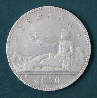 5 песет 1870