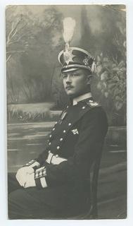 Старший унтер-офицер Лейб-гв. Литовского полка с полковым знаком в парадной форме.