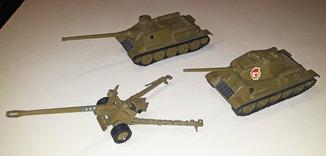 Танк Т-34, Самоходка САУ-100, Пушка БС-3. Набор 3 модели
