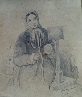 Старинные русские рисунки. 1853 год.