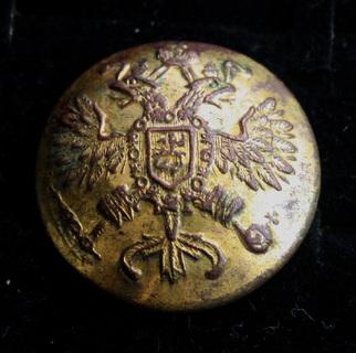 Пуговица, орел, позолота, 1 Сорт, ушко целое, Лот 4789